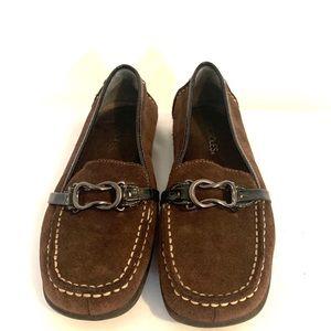 Aerosoles Matter of Fact brown leather slip on